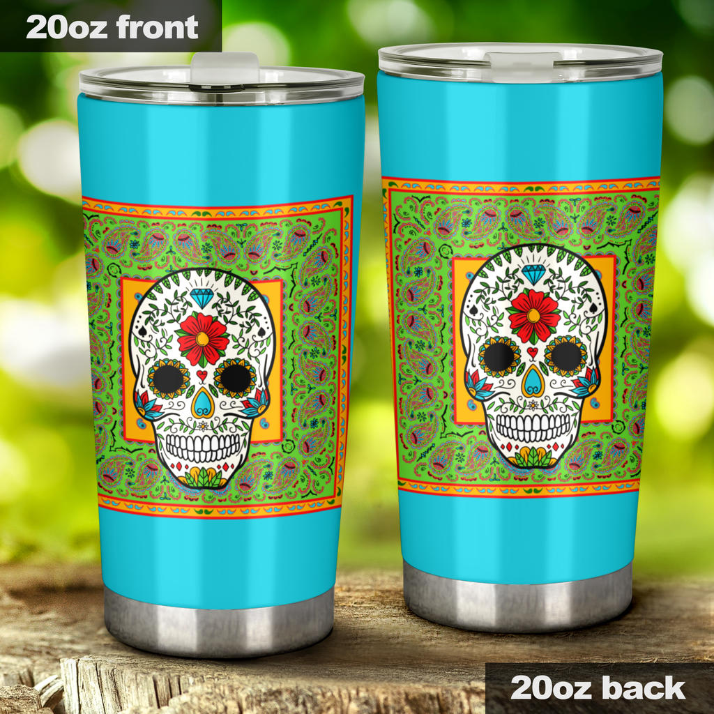 sugar skull insulated cups
