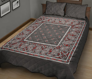 Wicked Gray Bandana Bed Quilts with Shams