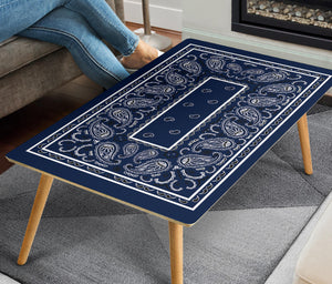 Navy Blue Bandana Rectangular Coffee Tables