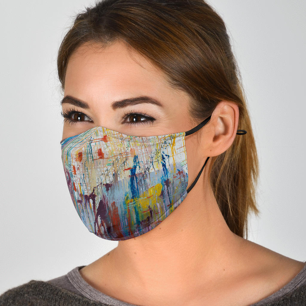 Adjustable Expressionistic Face Mask with 5 Layer Filters