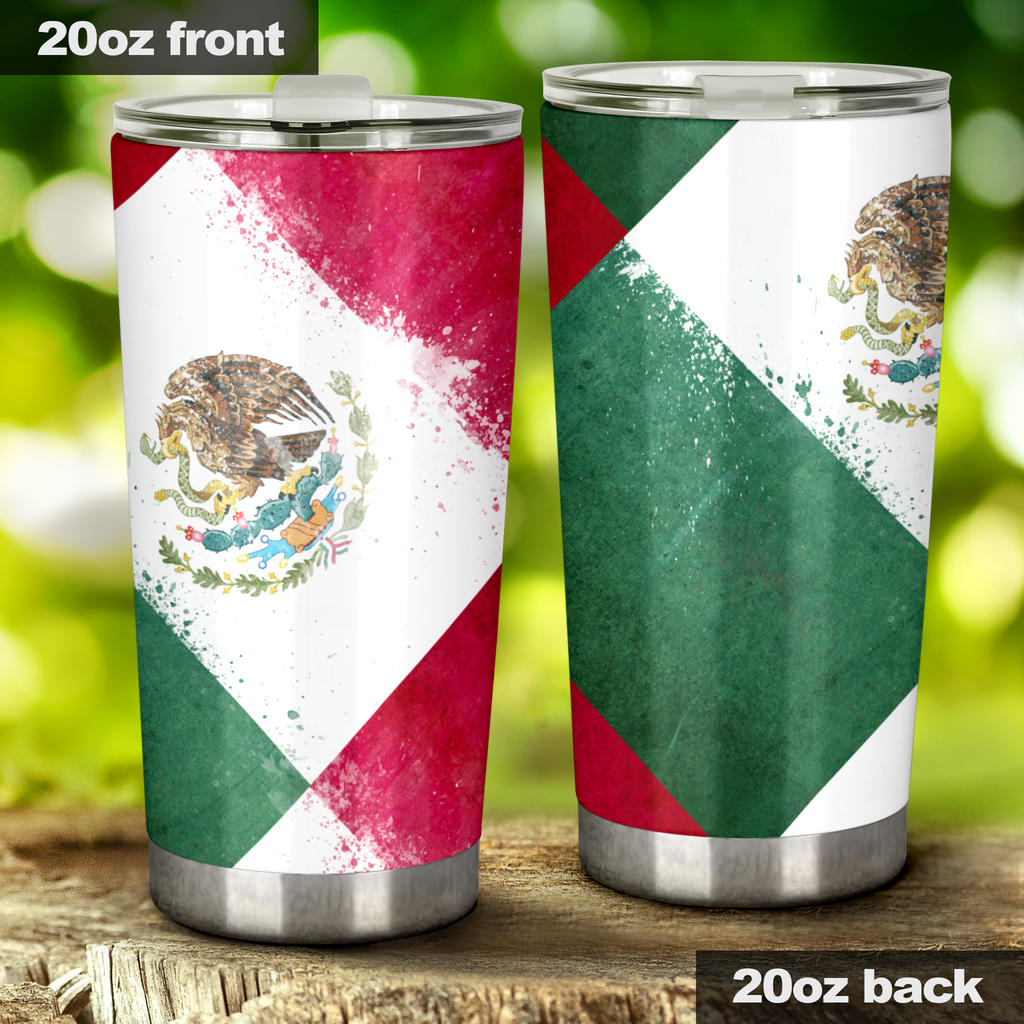 Mexico Flag Patches Tumblers
