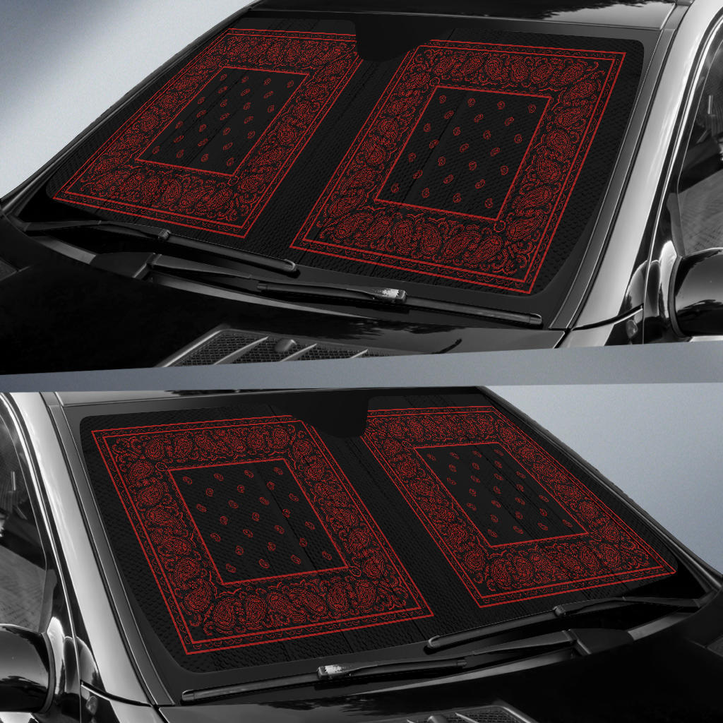 Black and Bandana Car Window Shade