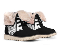 White Bandana Women's Winter Boots