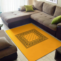 yellow and black area rug