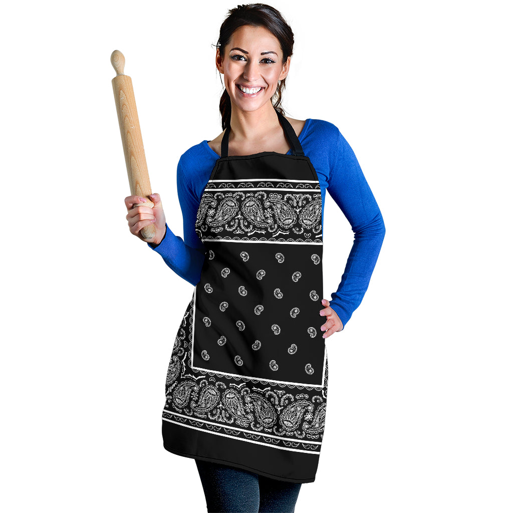 Black Big Bandana Aprons