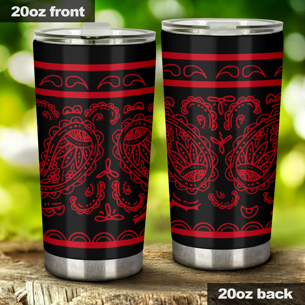Black and Red Bandana Tumblers