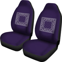 Royal Purple Bandana Car Seat Covers - Minimal