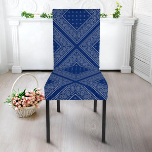 Blue and Gray Kitchen Chair Slipcovers