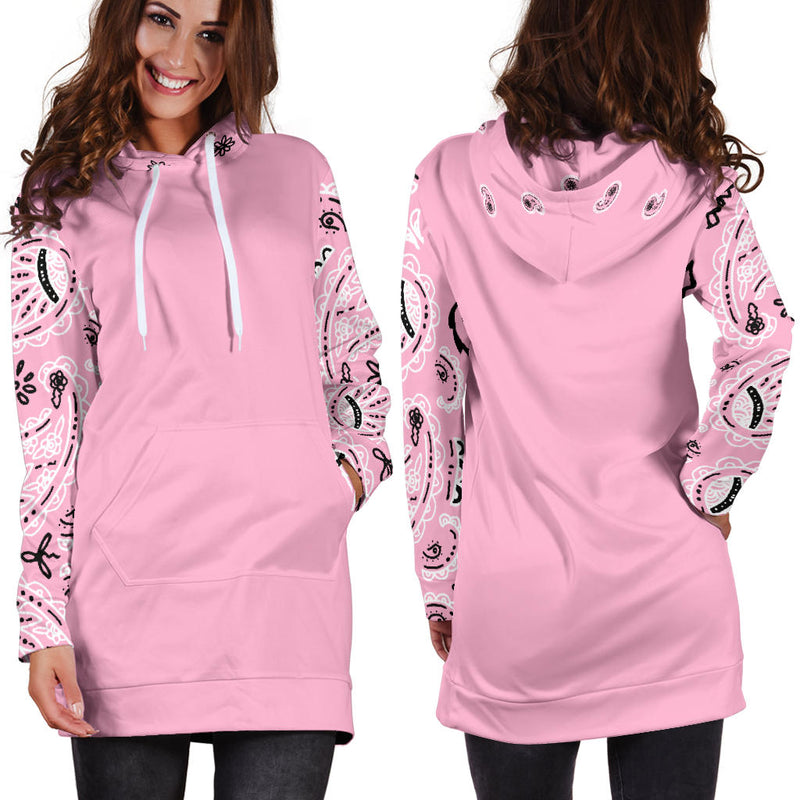 Light Pink Bandana Hoodie Dress