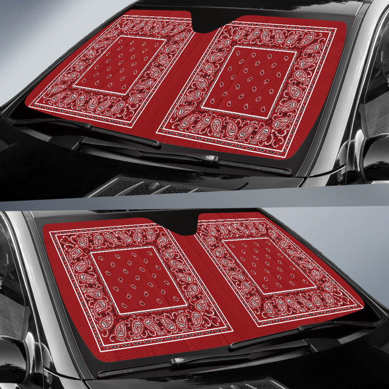 Classic Red Bandana Car Window Shade
