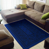 Blue and Black Bandana Area Rugs - Fitted