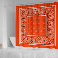 Orange Bandana Shower Curtains