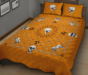 orange bandana quilt with shams
