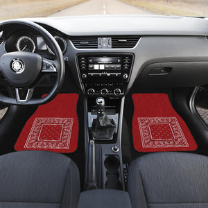 Red Bandana car show auto floor mats