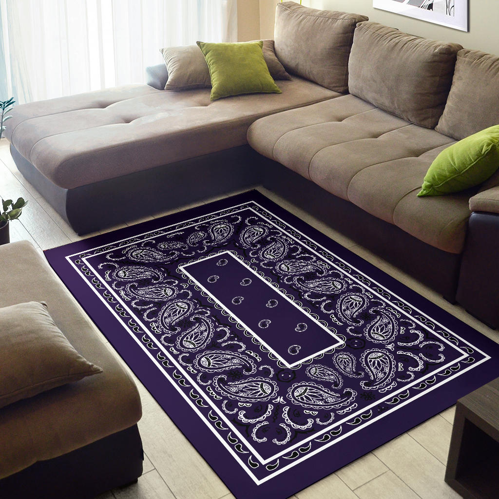 Royal Purple Bandana Area Rugs - Fitted