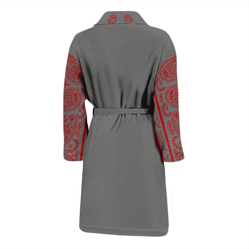 gray robe back view