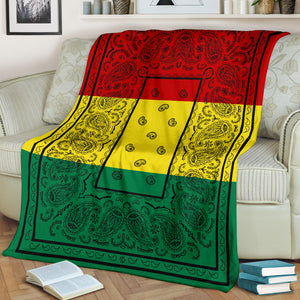 Rasta Bandana Throw Blanket