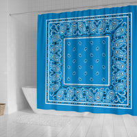 blue bandana bathroom decor