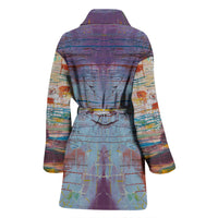 Drizzled Women's Bath Robe from Fine Art Painting