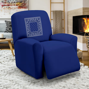 "Royal Blue Bandana 40"" Recliner Slip Covers"