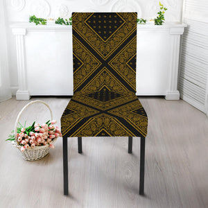 Black and Yellow Bandana Dining Chair Slipcovers