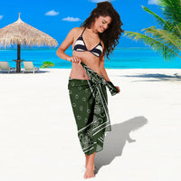 lady in forest green bandana sarong