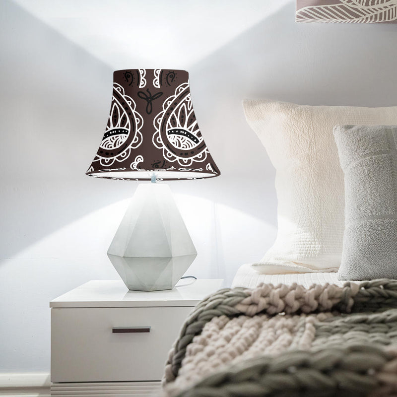 Brown Paisley Bell Lampshade