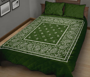 Forest Green Bandana Quilts with Shams