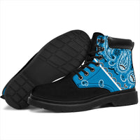 Sky Blue Bandana Blackout All Season Boots