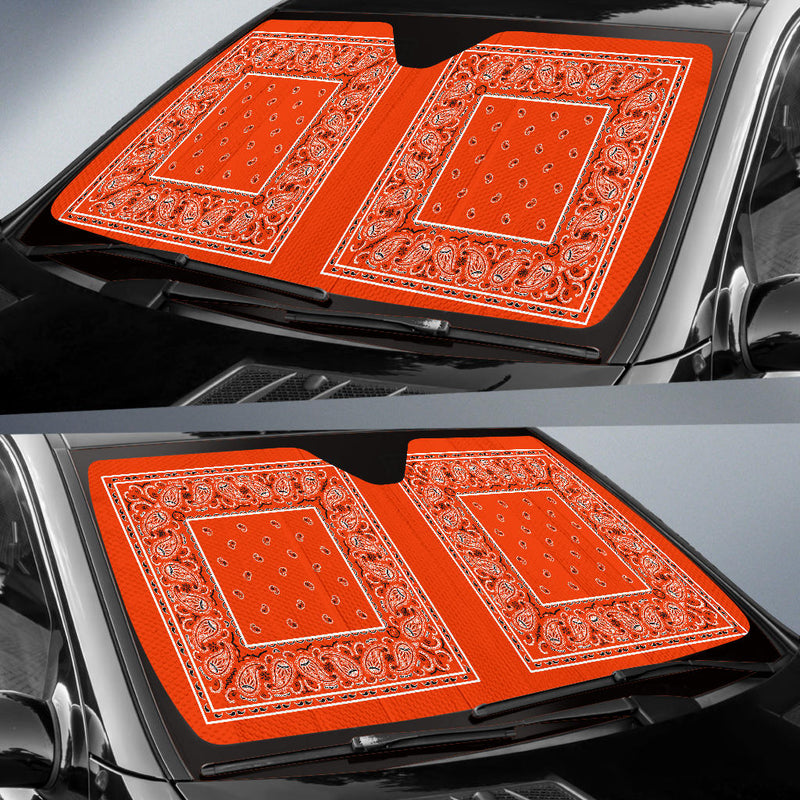 Perfect Orange Bandana Car Window Shade