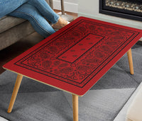 Red and Black Bandana Coffee Table