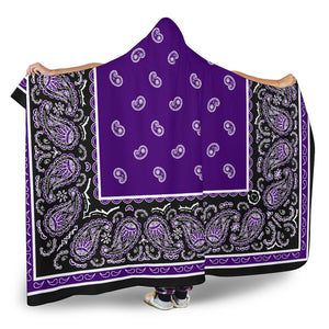 Ultimate Purple and Black Hooded Blanket