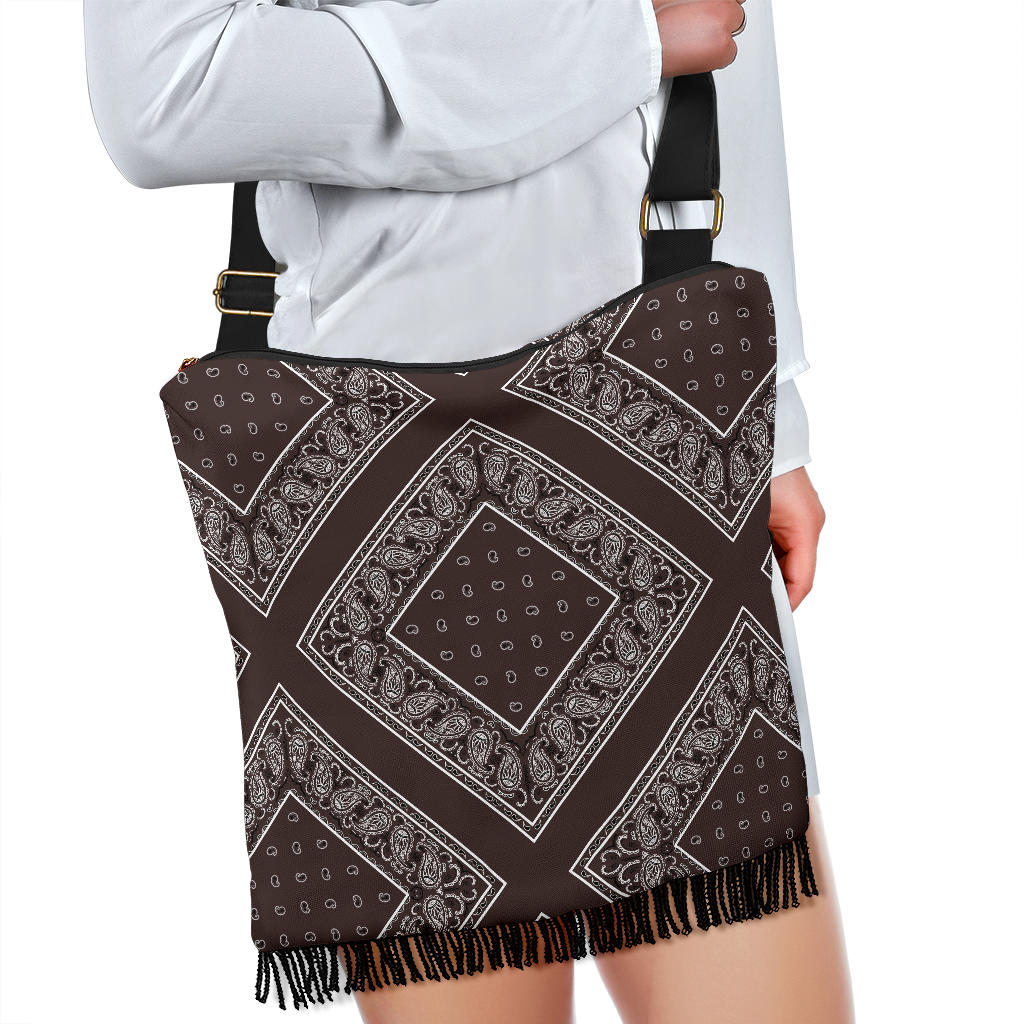 Coffee Brown Bandana Bohemian Bags