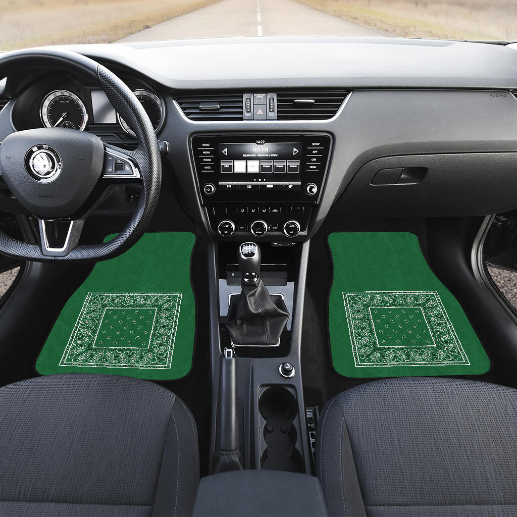 money green bandana auto floor mats