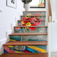 artistic still life decor stairway stickers