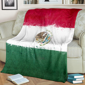Mexican Flag Fleece Throw Blanket