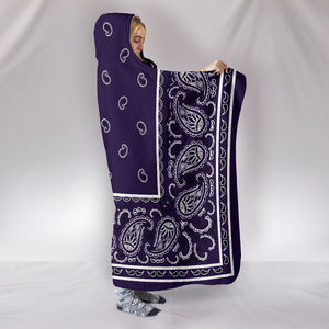 Purple Bandana Hooded Blanket
