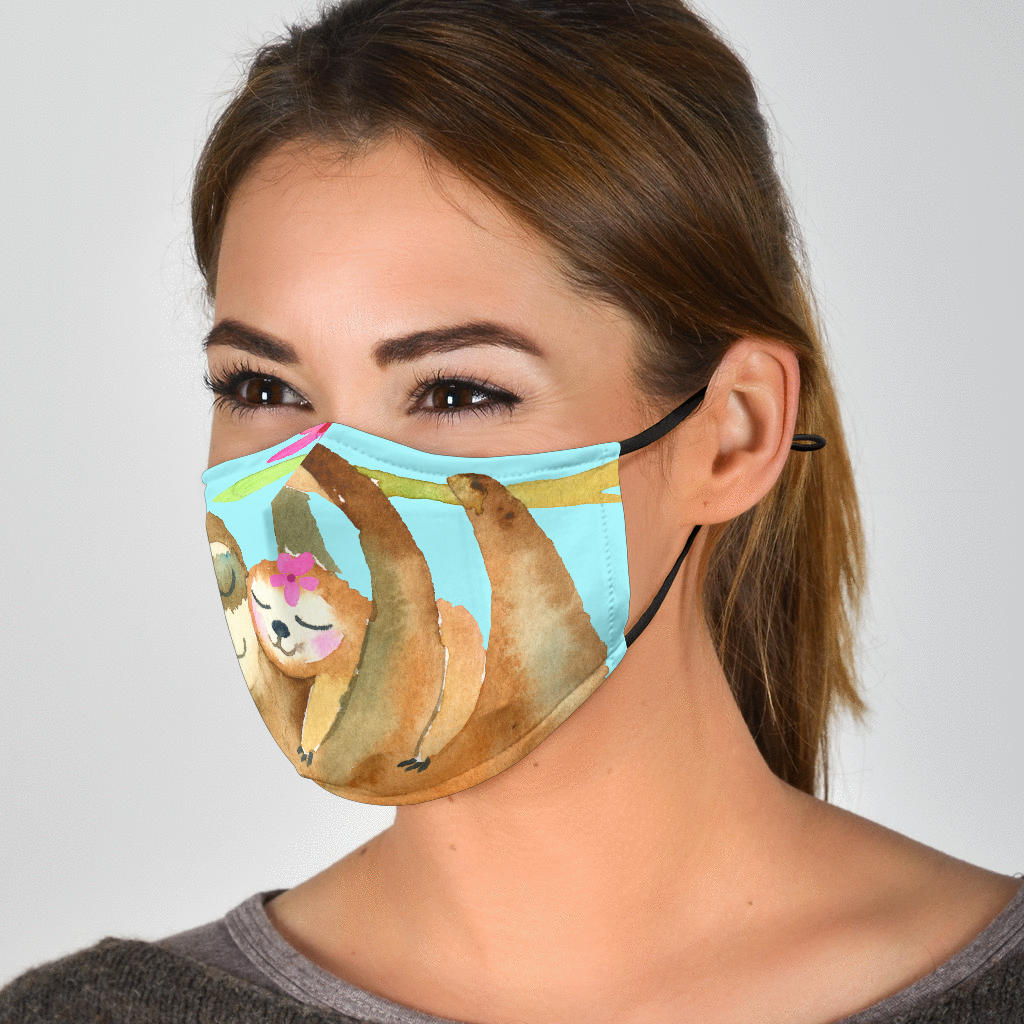 Sloth Family Love Face Mask