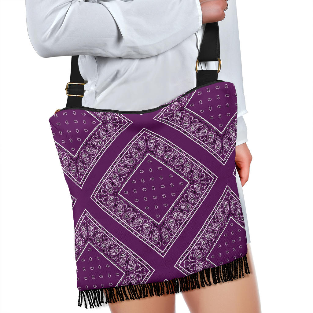 Purple Bandana Crossbody Bags