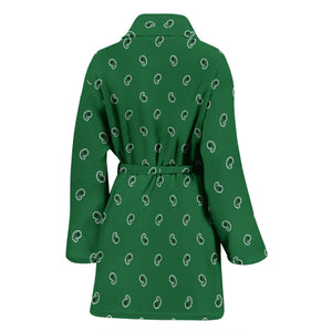 green robe with paisley