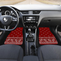 maroon red auto floor mats