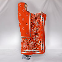 Orange Bandana Hooded Blanket side