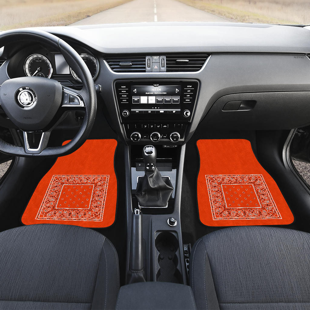 orange lowrider floor mats