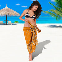 tied orange sarong on girl