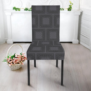 Gray and Black Kitchen Chair Covers