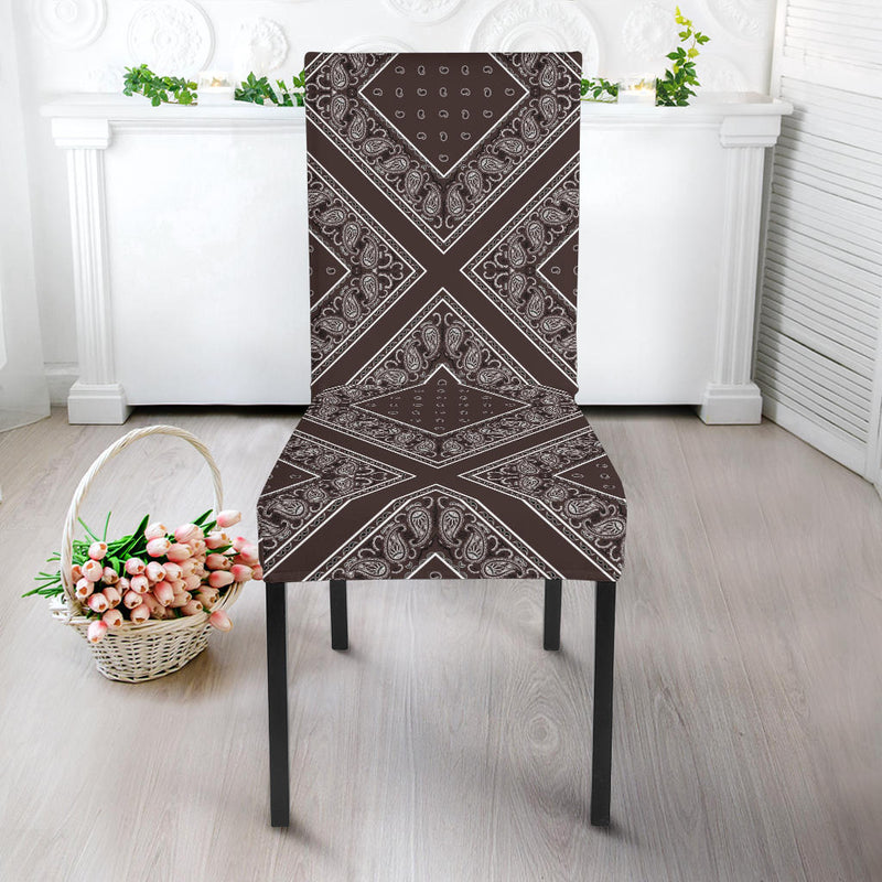 Brown Dining Chair Slipcover