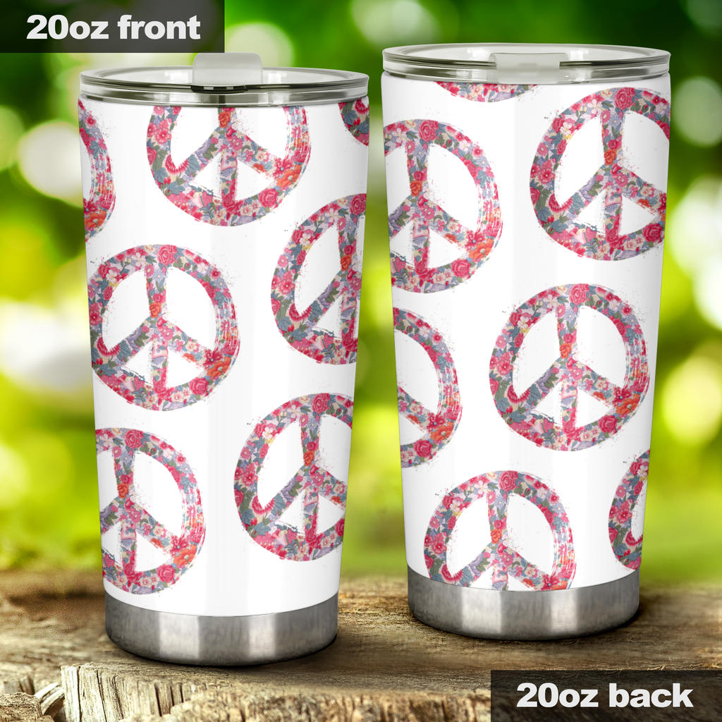 retro hippie drinkware tumbler