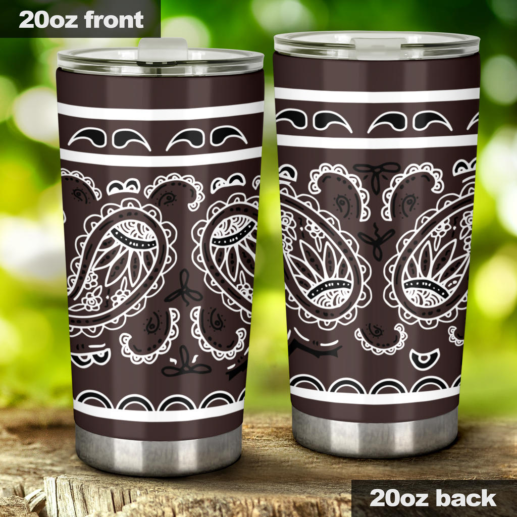 brown bandana drink tumblers