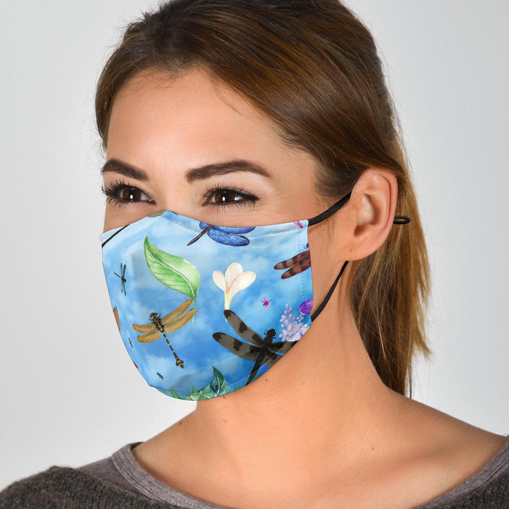 There Be Dragons Dragonfly Face Mask