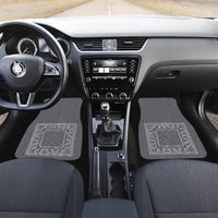 gray bandana muscle car floor mats
